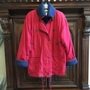 Vintage red and blue 2 in 1 Jacket